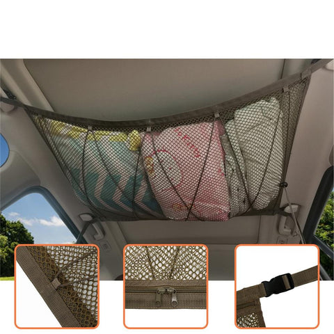 Car Ceiling Storage Net Organizer