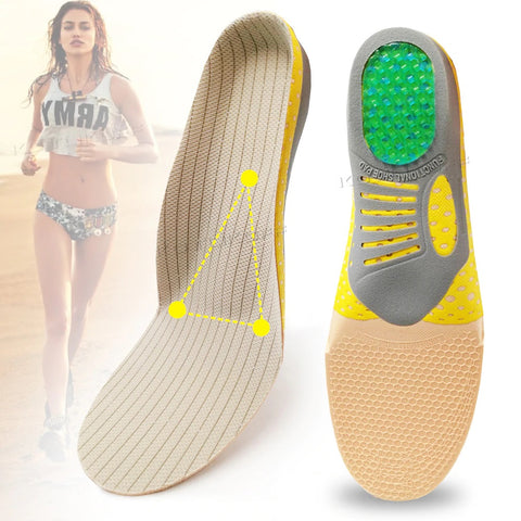 Orthopedic Arch Support Shock Absorption Silicone Gel Insoles