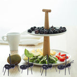 Ant Multiple Use Snack  Fork 12pcs/set - Indigo-Temple