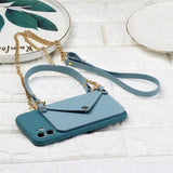 GTWIN Silicone Lanyard Wallet Phone Case For iPhone