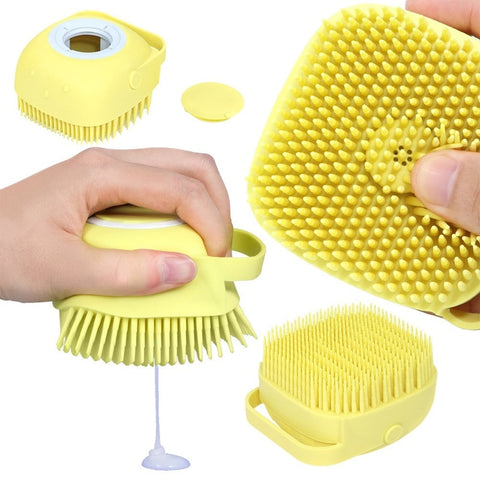 Silicone Bath Brush With Soap Compartment