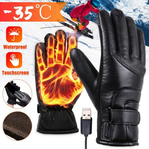 USB Powered Electric Heated Touch Screen Gloves