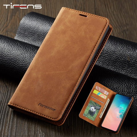 Leather Flip Case For Samsung Phones