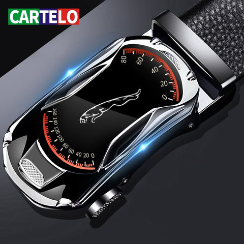CARTELO™ Automatic Buckle Genuine Leather Belt For Men