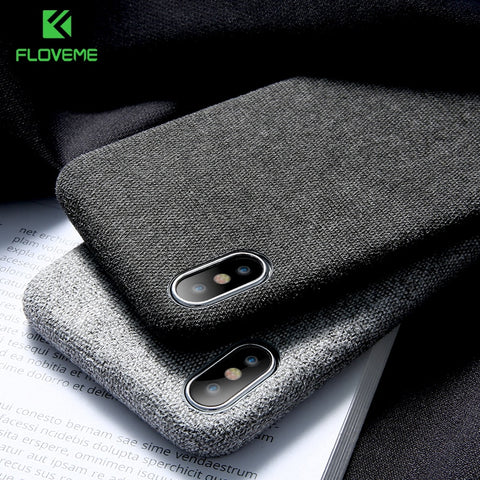 FLOVEME™ Textile Cloth Phone Case For iPhone