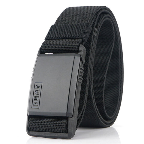 Magnetic Metal Buckle Adjustable Nylon Belt