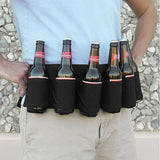 Canvas Beer Belt Holster 6 Pack - Indigo-Temple