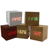 Wooden LED Multi Alarm Clock - Indigo-Temple