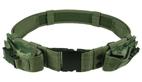 Tactical Belt with 2 Pouches (3 colors) - Indigo-Temple