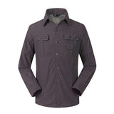 Quick Drying Removable Sleeves Outdoor Shirt - Indigo-Temple