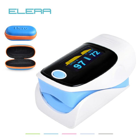 OLED Digital finger Oximeter + Pulse meter - Indigo-Temple