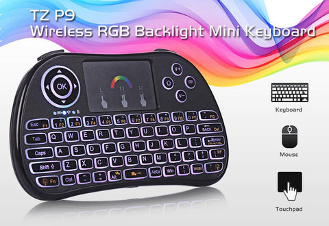 Wireless Keyboard & Mouse Combo with RGB Back Light - Indigo-Temple