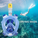 180° Full Face Diving Mask - Indigo-Temple