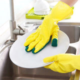 SCRUB SPONGE CLEANING GLOVES - Indigo-Temple