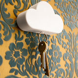 Cloud Shape Magnetic Key Holder (2 Pcs) - Indigo-Temple