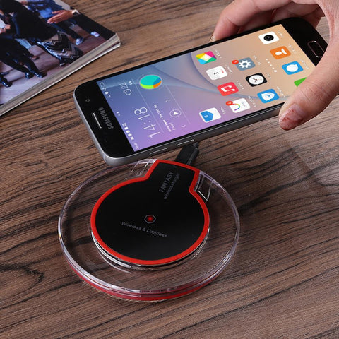 Universal Qi Wireless Charging Pad + Receiver - Indigo-Temple