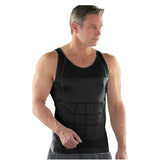 Men's Body Slimming Under-Vest - Indigo-Temple