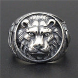 Lebre -  Round Lion Ring - Indigo-Temple