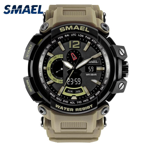 XI - 330 SMAEL™ Waterproof & Shockproof  Tactical Watch - Indigo-Temple