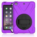Heavy Duty Shockproof Hybrid Cover for IPad - Indigo-Temple