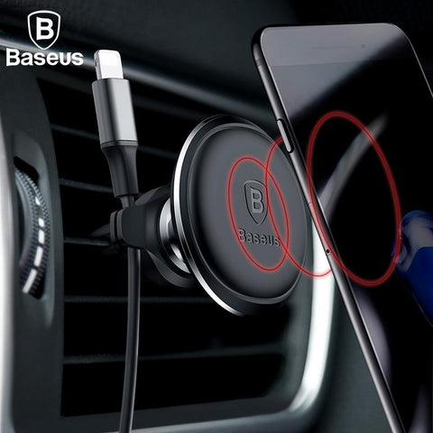 Baseus Magnetic Phone Holder With Cable Clip - Indigo-Temple
