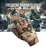 Premium Breathable Tactical Full Finger Gloves - Indigo-Temple