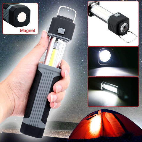 2 in 1 COB Magnetic LED Torch - Indigo-Temple