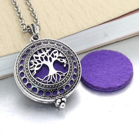 Essential Oil / Perfume Diffusing Locket Necklace - Indigo-Temple