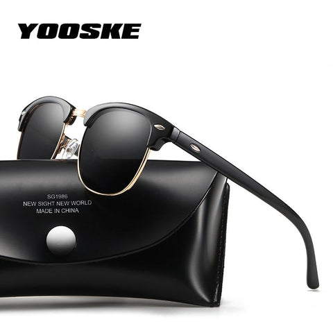 YOOSKE™ Polarized Unisex Retro Sunglasses - Indigo-Temple