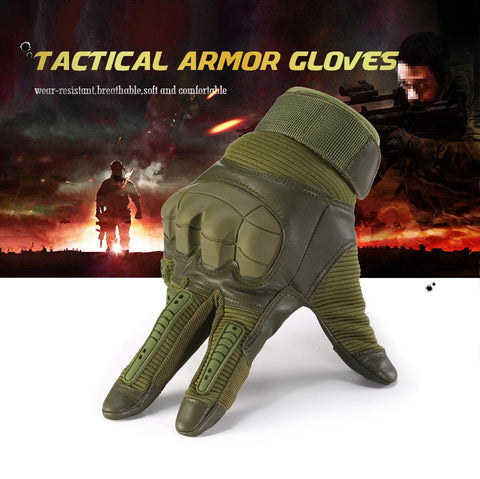 Touch Screen Military Full Finger Gloves - Indigo-Temple
