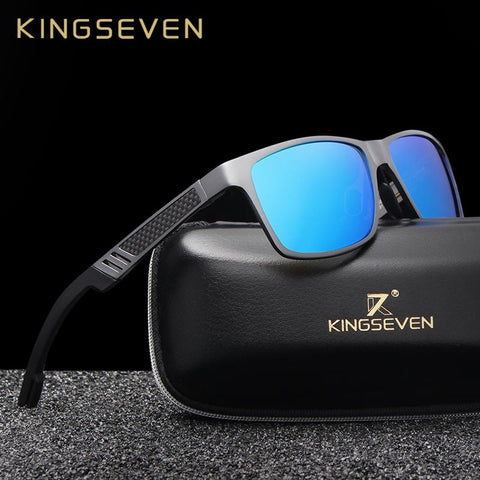 KINGSEVEN™ Magnesium Polarized Men's Sporty Sunglasses - Indigo-Temple