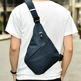 MR.YLLS™ Single-Strap Casual Sling Bag - Indigo-Temple
