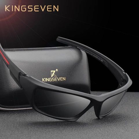 KINGSEVEN™ Sporty Flexible Men Polarized  Sunglasses - Indigo-Temple