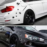 Realistic 3D Car Bullet Hole Stickers - Indigo-Temple