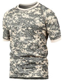 Summer Army  Breathable Camo Military T-Shirt - Indigo-Temple