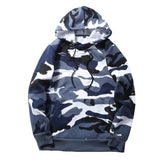 Men's TACTICAL Military Style Hoodie Sweatshirts - Indigo-Temple