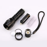 CREE XM-L2 Tactical LED Flashlight 4000 LM Zoomable - Indigo-Temple