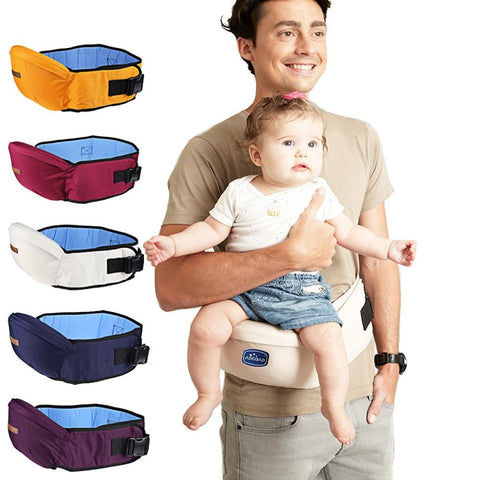 Ergonomic Baby Waist Carrier - Indigo-Temple