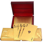 24K  Gold Foil Plated Cards With a Wooden Box - Indigo-Temple