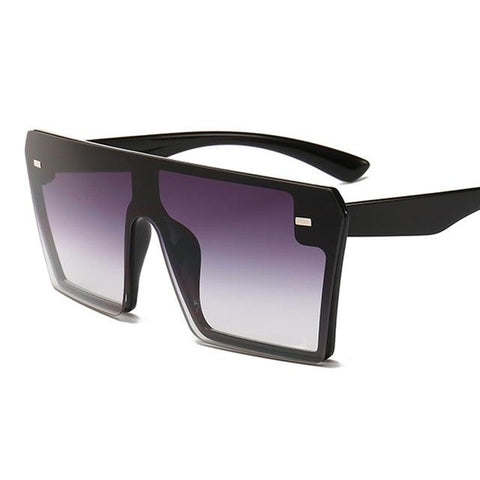 Large-Frame Women's Fashion Anti-UV Sunglasses - Indigo-Temple