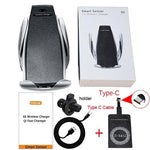Electric-Auto Grip Phone Cradle and Qi Wireless Charger - Indigo-Temple