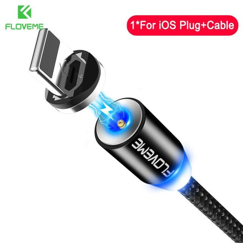 3A Magnetic High-Speed Charging Cable - Indigo-Temple