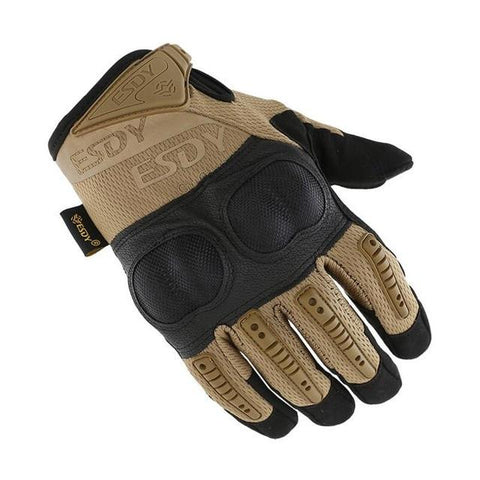 Armor-Shell Protection Full-Finger Tactical Gloves - Indigo-Temple