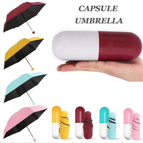 Pocket Sized Ultra Small Capsule Umbrella - Indigo-Temple