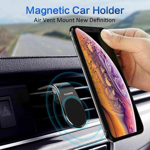 Magnetic Phone Holder with Car Air-Vent Clip - Indigo-Temple