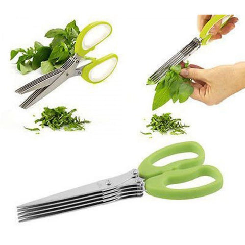 5 Layers Blade Multifunctional Kitchen Scissors - Indigo-Temple