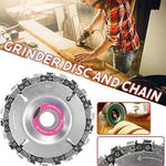 Grinder Wood Carving Chain Disc Attachment