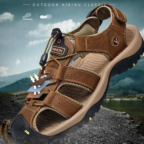 Genuine Leather Classic Ultra-Soft Hiking Sandals For Men