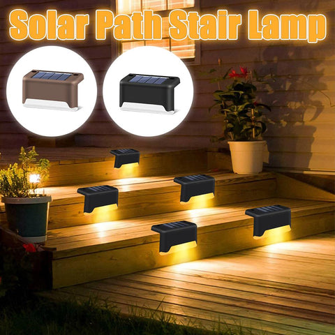 GardenGuard™ Waterproof Pathway & Stairs Solar LED Lights ( 4pcs)