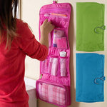 Travel Toiletry Folding Hanging Organizer - Indigo-Temple